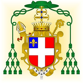 Peter of Savoy (Archbishop of Lyon) - CoA of Savoie