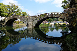 Megane Bridge of Isahaya Park