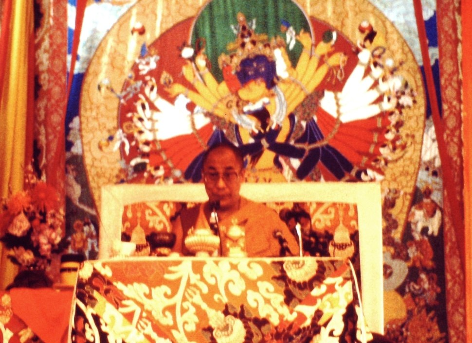 14th Dalai Lama at Bodh Gaya Kalachakra in December 1985