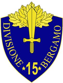 15th Infantry Division Bergamo division