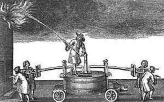 History of firefighting - Fire engine 17th Century