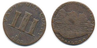 Gibraltar real - In 1802 the first merchant token to bear the name Gibraltar (albeit spelled Gibralter) was issued by Robert Keeling