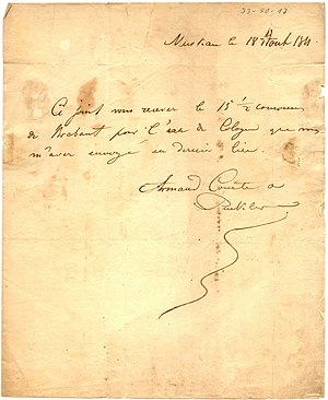 Hermann, Fürst von Pückler-Muskau - Letter of Count Puckler to Farina in Cologne 1811