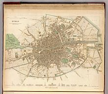 Historical Maps Of Dublin Wikipedia - Old maps of dublin