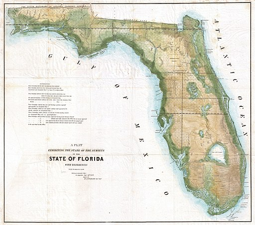 1848 Land Survey Map of Florida - Geographicus - Florida-landsurvey-1849