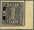 1849 1kr tiefschwarz Bayern plateI unused corner SEM1 Ib.jpg