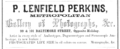 1858 P Lenfield Perkins photographer Baltimore Maryland advert.png