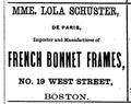 1868 Schuster WestSt BostonDirectory.png