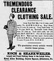 1894 - Koch & Shankweiler Newspaper Ad2 Allentown PA.jpg