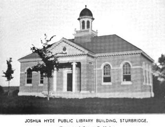 1899 Sturbridge public library Massachusetts