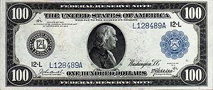 One hundred dollar bill, series 1914