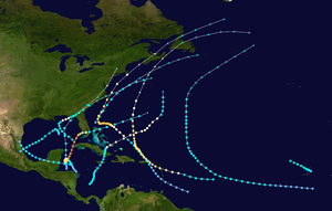 1924 Atlantic hurricane season - Image: 1924 Atlantic hurricane season summary map