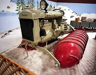 Woodland, California - The Fordson snowmobile used to carry the US mail and freight in the Truckee area of the California Sierra Nevada Mountains. Heidrick Ag History Center