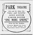 1935 - Park Theater Ad - 26 Apr MC - Allentown PA.jpg