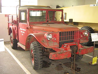 Dodge M37 - An M56 used as fire truck in Lane Motor Museum