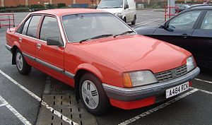 Vauxhall Carlton - Post-facelift Vauxhall Carlton Mark I saloon