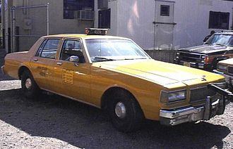 Taxicabs of New York City - Chevrolet Caprice NYC Cab in the 1990s.