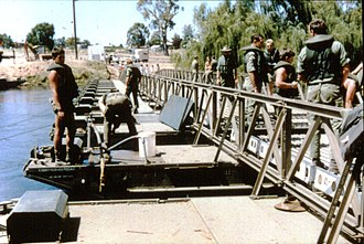 17th Construction Squadron (Australia) - Light Assault Floating Bridge (LAFB).