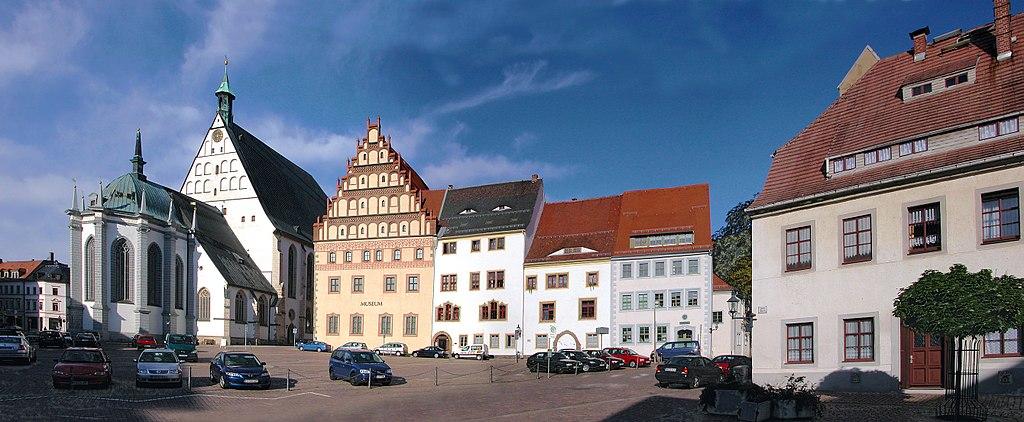 Freiberg: Untermarkt mit Dom St Marien, Stadt- und Bergbaumuseum