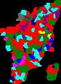 2006 tamil nadu legislative election map by parties.png