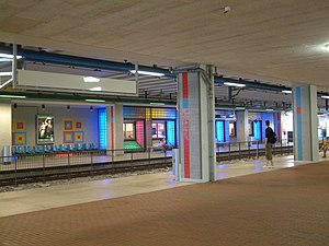 Stadhuis (Zoetermeer) RandstadRail station - General view of the station in 2008