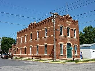 Kasota, Minnesota - The Kasota Village Hall is on the National Register of Historic Places.