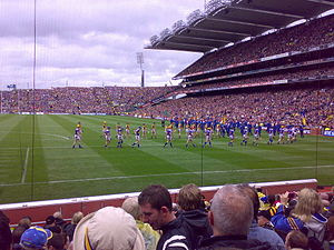 2009 All Ireland Final teams marching before game.jpg