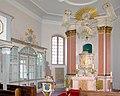 20100417515DR Beerwalde (Erlau) Dorfkirche Altar Taufe Loge.jpg