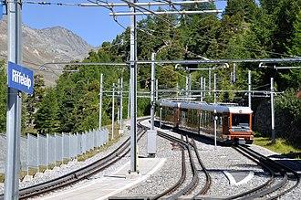 Riffelalp railway station - Image: 2012 08 17 15 28 18 Switzerland Canton du Valais Blatten