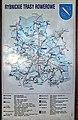 2012 Rybnik, Ulica księdza Henryka Groborza, Mapa szlaków rowerowych.jpg