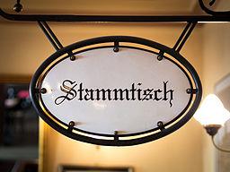 2013 Stammtisch sign Munich pub