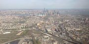 2014-05-07 16 24 44 View of Lower Manhattan, Jersey City, New Jersey, and several highways-cropped
