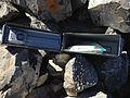 2014-10-03 12 00 26 Inside of the register at the summit of Diamond Peak, Nevada.JPG