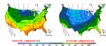 2015-10-29 Color Max-min Temperature Map NOAA.png