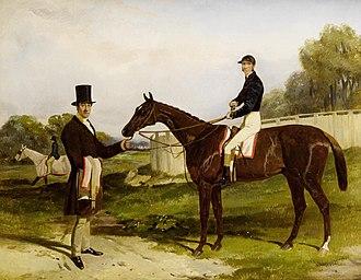 Frank Butler (jockey) - Frank Butler on the 1852 Derby winner Daniel O'Rourke