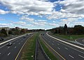 2017-10-30 13 43 37 View north along Interstate 95 from the overpass for Scotch Road (Mercer County Route 611) in Hopewell Township, Mercer County, New Jersey.jpg