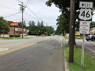 Washington Township, Morris County, New Jersey - US 46 westbound in Washington Township