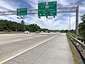 2019-05-21 11 48 12 View north along Interstate 97 (Glen Burnie Bypass) at Exit 14 (Maryland State Route 100, Ellicott City, Gibson Island) on the edge of Severn and Glen Burnie in Anne Arundel County, Maryland.jpg