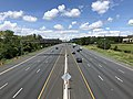 2019-07-18 13 05 51 View northwest along Interstate 695 (Baltimore Beltway) from the overpass for U.S. Route 1 Alternate (Washington Boulevard) in Arbutus, Baltimore County, Maryland.jpg