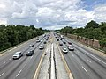 2019-07-18 14 32 38 View north along Interstate 695 (Baltimore Beltway) from the overpass for Crosby Road in Woodlawn, Baltimore County, Maryland.jpg