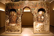 2056 - Byzantine Museum, Athens - Iconostasis from Evritania (17th century) - Photo by Giovanni Dall'Ort.jpg