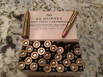 .22 Hornet - Image: 22 Hornet Box