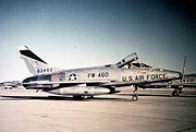 North American F-100D-85-NH Super Sabre  Serial 56-3460 of the 27th TFW.  On 9 June 1964 this aircraft was lost 420 miles West of Shannon Ireland