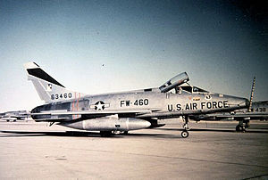North American F-100D-85-NH Super Sabre  Serial 56-3460 of the 27th TFW, deployed on TDY to Takhli Royal Thai Air Force Base in 1964 from Cannon AFB, New Mexico.