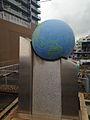 35°N Monument on platform of Otsu Station.jpg