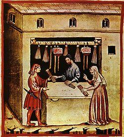 Torch seller, tacuinum sanitatis casanatensis (XIV century)