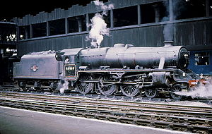 LMS Stanier Class 5 4-6-0 - No. 44949 at Manchester Victoria in 1968.