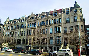 Sugar Hill, Manhattan - row houses at 718-730 St. Nicholas Avenue (2014)