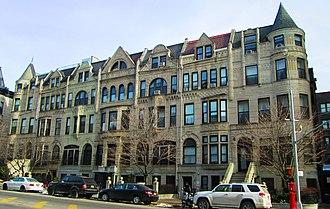Sugar Hill, Manhattan - row houses at 718-730 St. Nicholas Avenue (2014)
