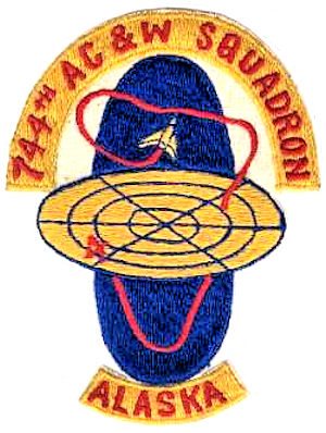 176th Air Defense Squadron - Emblem of the 744th Aircraft Control and Warning Squadron.
